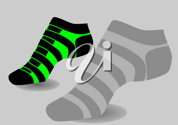 Womens Socks  on a gray background
