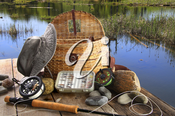 Royalty Free Photo of Fly Fishing Equipment