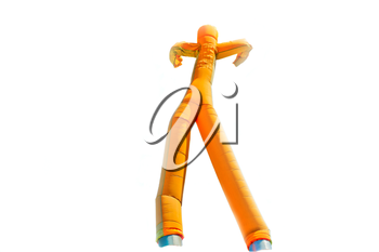 Inflatable man isolated on white background