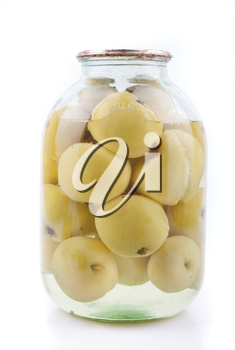 Royalty Free Photo of a Jar of Apples