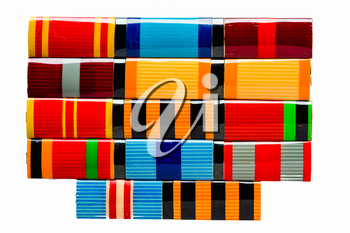 MINSK, BELARUS - FEB 06: Collection of Russian (soviet) medals for participation in the Second World War, February 06, 2014.