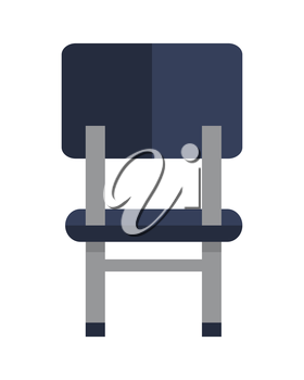 Office chair icon symbol isolated on white. Retro piece of furniture. Editable items in flat style for your web design. Part of series of accessories for work in office. Vector illustration