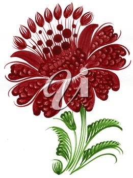 Royalty Free Clipart Image of a Decorative Flower