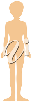 Silhouette of female human on white background illustration