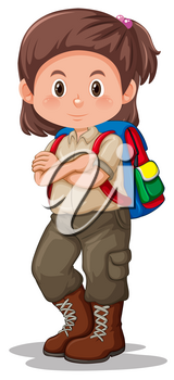 A girl scout character illustration