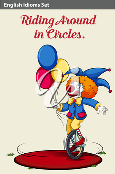 An image showing a riding in circles
