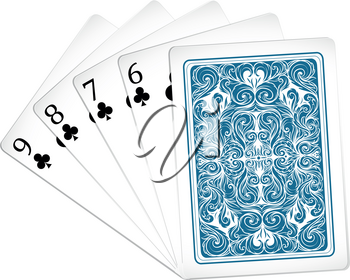 Set of poker cards illustration