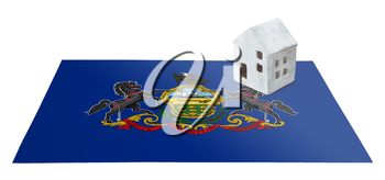Small house on a flag - Living or migrating to Pennsylvania