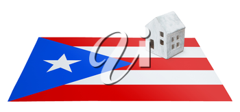 Small house on a flag - Living or migrating to Puerto Rico