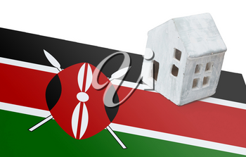 Small house on a flag - Living or migrating to Kenya