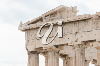 Old details of the Athenian Acropolis, Greece