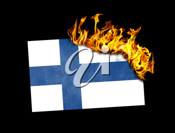 Flag burning - concept of war or crisis - Finland