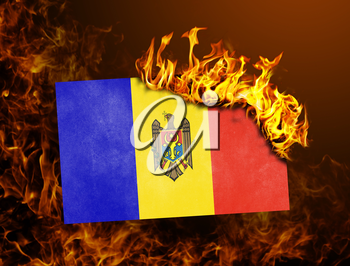 Flag burning - concept of war or crisis - Moldova