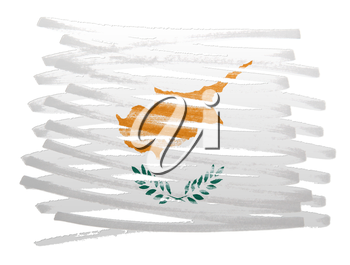 Flag illustration made with pen - Cyprus