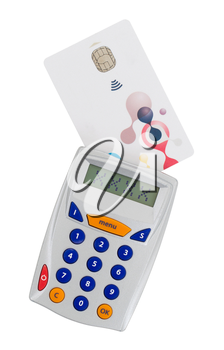 Banking at home, card reader for reading a bank card