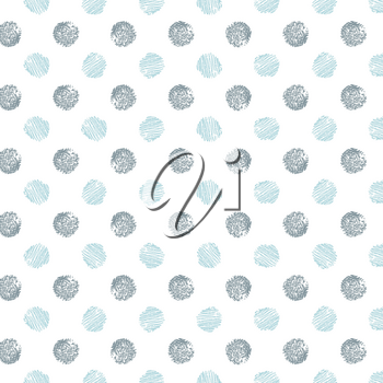 Decorative pattern with drawn circles, vector background.