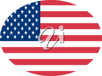 Clipart Image of The American Flag In an Ovel Shape