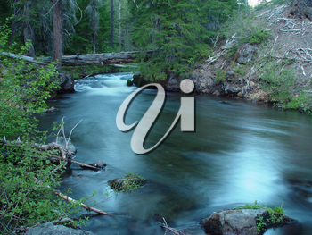 Stock Photo of a Flowing River