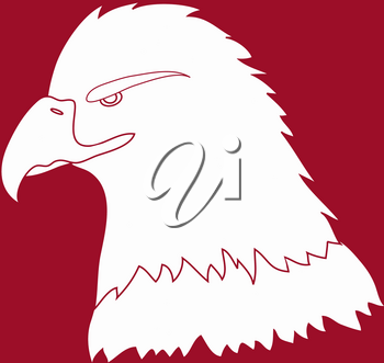 Clip Art Illustration of a Bald Eagle in Relief