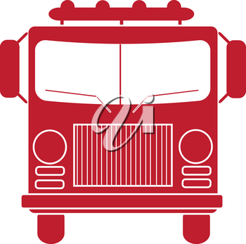 Clip Art Illustration of a Fire Truck Silhouette