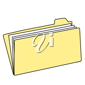Clip Art Illustration of a Manilla File Folder
