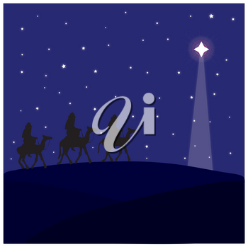 Royalty Free Clipart Illustration of The Three Wise Men