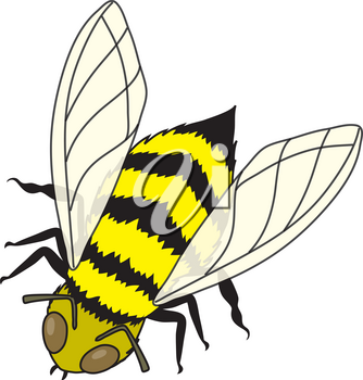 Royalty Free Clipart Illustration of a  Honey Bee