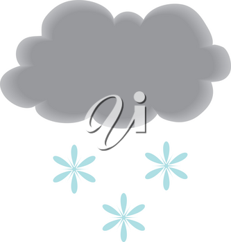 Royalty Free Clipart Illustration of a Cloud With Snow
