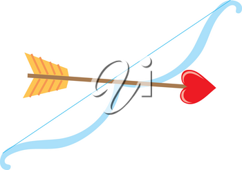 Royalty Free Clipart Illustration of Cupids Bow and Arrow