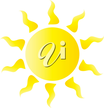 Clipart Illustration of the  Summer Sun