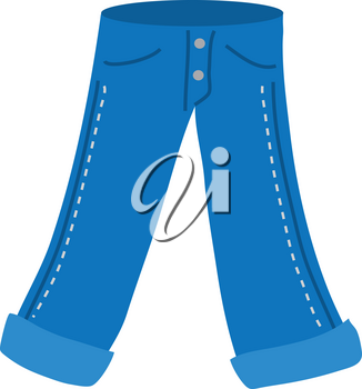 Clipart Illustration of Jeans