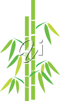 Clip Art Illustration Of A Stand Of Bamboo