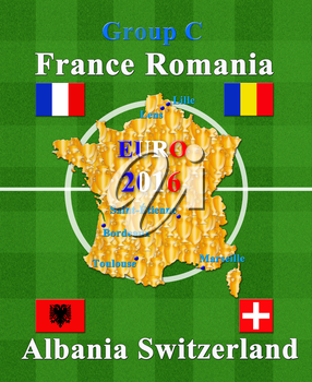 football championship EURO 2016 in France group A