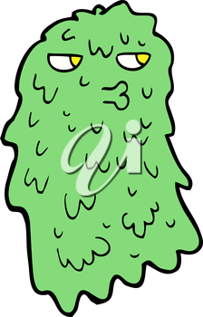 Royalty Free Clipart Image of a Gross Ghost