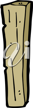 Royalty Free Clipart Image of a Piece of Wood