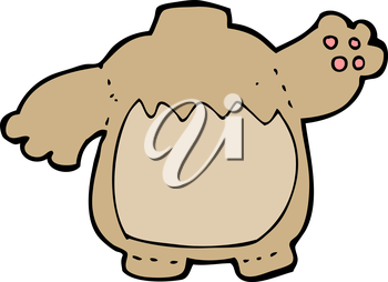 Royalty Free Clipart Image of a Teddy Bear Body