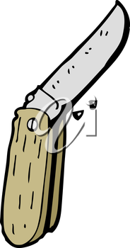 Royalty Free Clipart Image of a Folding Knife