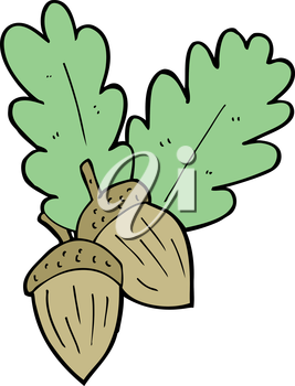 Royalty Free Clipart Image of Acorns