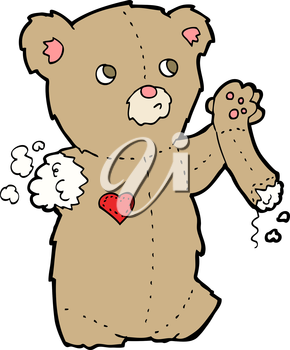 Royalty Free Clipart Image of a Teddy With a Broken Arm