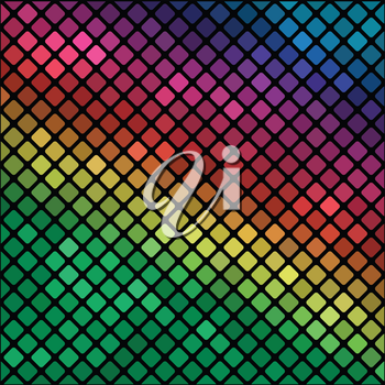 colorful illustration with  mosaic background  for your design