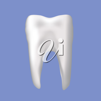 colorful illustration with tooth on a blue background for your design