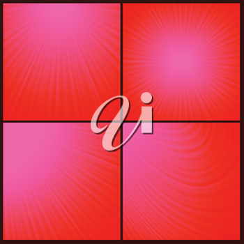 Illustration  with abstract red rays  background. Graphic Design Useful For Your Design. Sun wave light background texture design on border.