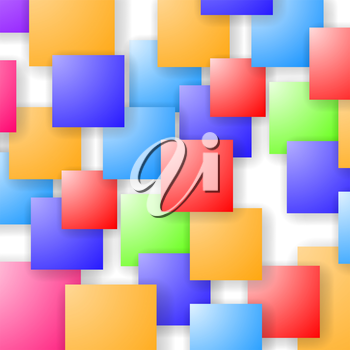 Square Blank Background. Set of Colorful Squares. Squares Pattern