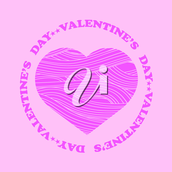 Be My Valentine Romantic Banner on Pink Background.
