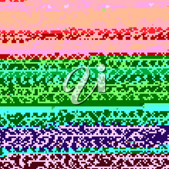 Glitch Colored Background. Data Decay. Digital Pixel Noise Texture. Television Signal Fail. Computer Screen Error. Abstract Grunge Wallpaper.