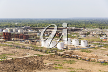 A complex oil refinery reservoirs for keeping