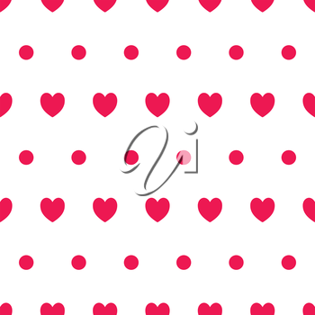 Seamless hearts pattern. Design element for wallpapers, web site background, baby shower or wedding invitation, birthday or Valentines Day card, scrapbooking, fabric print etc.