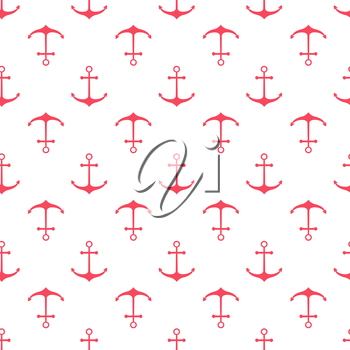 Seamless nautical pattern with scattered anchors. Design element for wallpapers, baby shower invitation, birthday card, scrapbooking, fabric print etc.