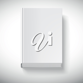 Blank book drawn in perspective. Isolated object for design and branding.