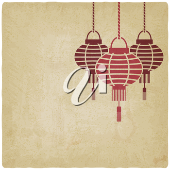 Chinese lantern old background - vector illustration. eps 10